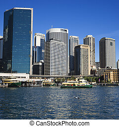 Sydney, Australia. - Downtown view of Sydney, Australia with...