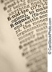 Finance in dictionary.