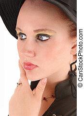 Closeup of teen girl.