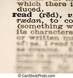 Definition of read.