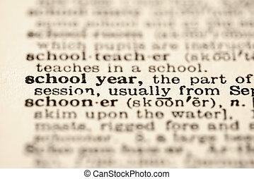 School year definition.