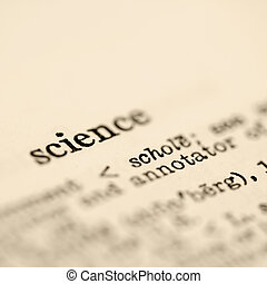 Science in dictionary.
