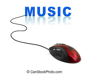 Computer mouse and word Music