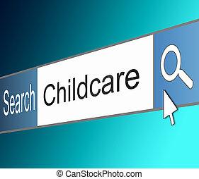 Childcare search concept.