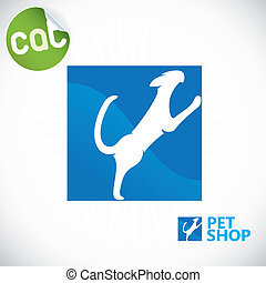 Pet Shop Illustration, Sign, Symbol, Button, Badge, Icon,...