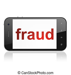 Security concept: Fraud on smartphone - Security concept:...