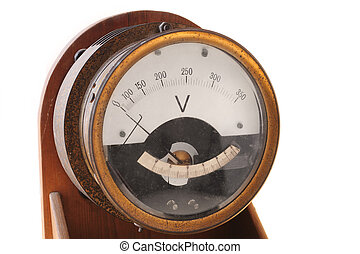Voltmeter - Old and obsolete electricity meter