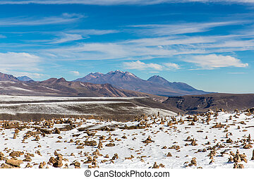 The Andes, Road Cusco- Puno, Peru,South America. 4910 m...