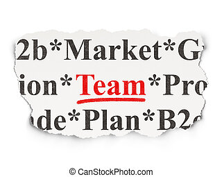 Business concept: Team on Paper background