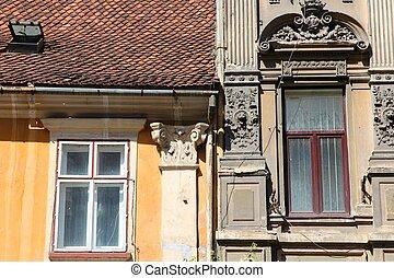Old windows in Romania