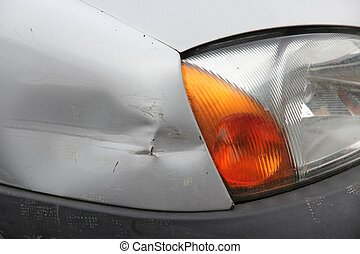 Dented car - Small generic car with dented front wing Minor...