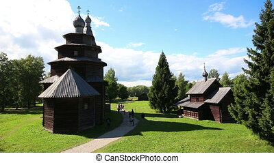 Veliky Novgorod - museum of old russian wooden architecture