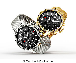 watches - modern watches isolated on a white background