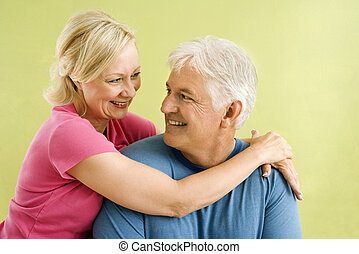 Happy smiling couple - Portrait of smiling middle-aged...