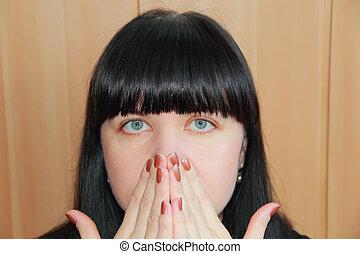 cabelo, mulher, pretas, bonito