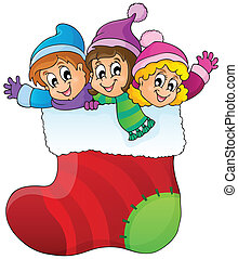 Christmas image theme 1 - eps10 vector illustration