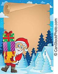 Christmas theme parchment 2 - eps10 vector illustration.