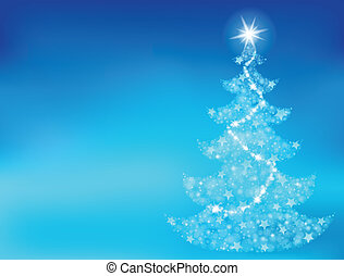 Christmas tree topic background 1