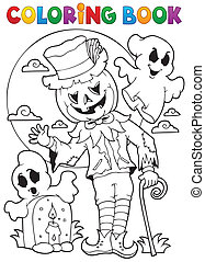 Coloring book Halloween character 9 - eps10 vector...