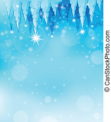 Icicle theme image 2 - eps10 vector illustration.