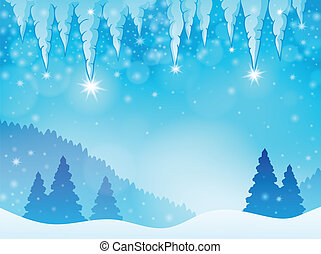 Icicle theme image 3 - eps10 vector illustration