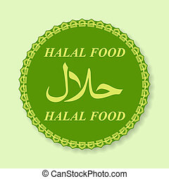 Halal Products Certified Seal - Vector illustration