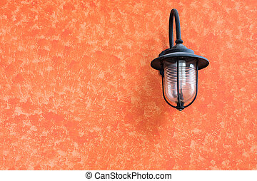 old lamplight on the wall as background