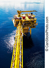 Oil and gas platform in offshore, Energy business.
