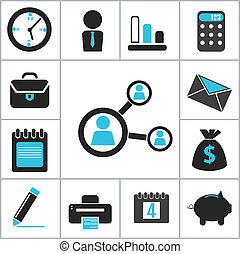 Buisness icons. Vector set for you design