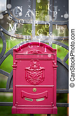 Mail box with letters comming out
