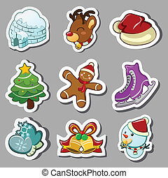 Winter icons - A vector illustration of winter icon sets