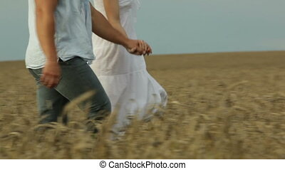 Countryman and countrywoman - Romantic man and woman...