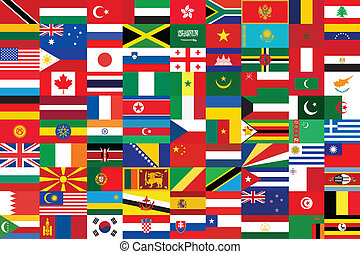 background with some of world flags - seamless background...