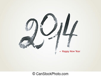 New year calligraphy - Vector illustration of New year...