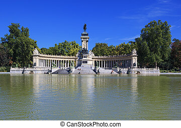 "Monument to Alfonso XII in the Parque del Buen Retiro ""Park..."