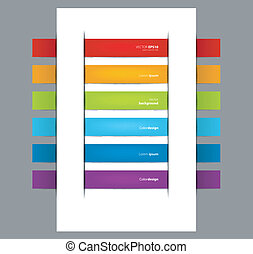 Set of color stickers - Vector illustration of Set of color...