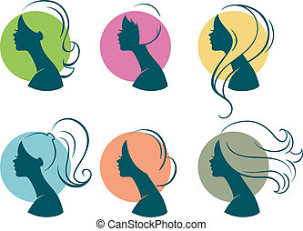 Beautiful women - Vector illustration of Beautiful womans