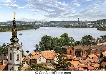 Photograph of panoramic view from Gardos - Zemun, with Saint...