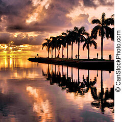 Point of Photography - Sunrise at Cutler Bay south of Miami,...