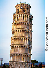 Tower of Pisa, Italy - The Leaning Tower of Pisa, Tuscany,...