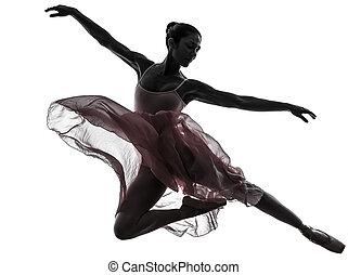 mulher, bailarina, balé, dançarino,...