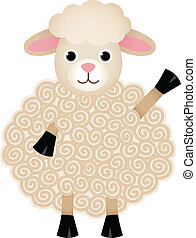 Friendly Sheep - Image representing a friendly sheep,...