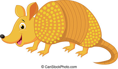 Cute armadillo cartoon - Vector illustration of Cute...