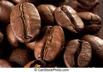 Kaffeebohnen ger?stet - viele Kaffeebohnen vollfl?chig als...