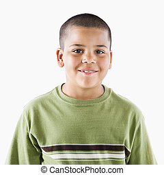 Smiling young hispanic boy - Young latino adolescent boy...