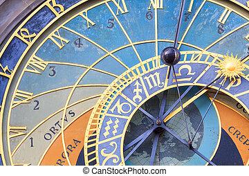 Famous Prague astronomical Clock - The famous astronomical...