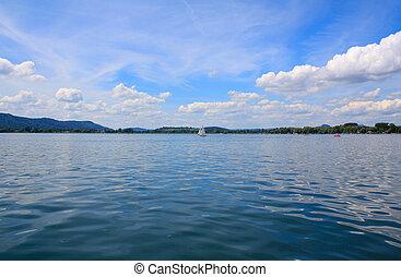 Bodensee Radolfzell - Radolfzell vom Bodensee aus