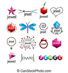collection of vector logos jewelry and fashion accessories
