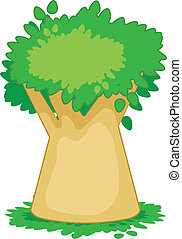 baobab - Vector drawing of a tree on a white background