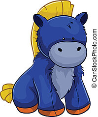 plush horse - vector cartoon character horse